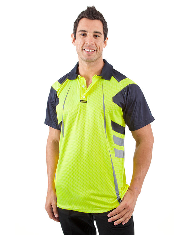 Warrior Airwear Polo Shirt - Yellow/Navy
