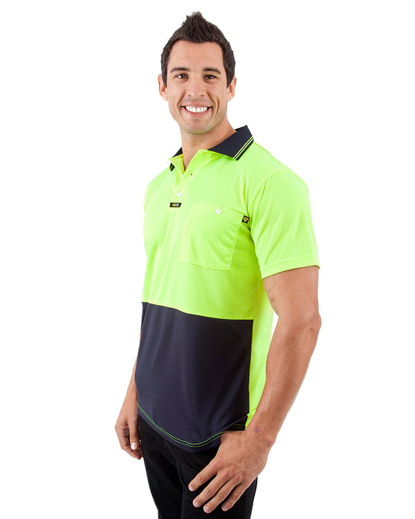 Original Microfibre Polo Shirt SS - Yellow/Navy