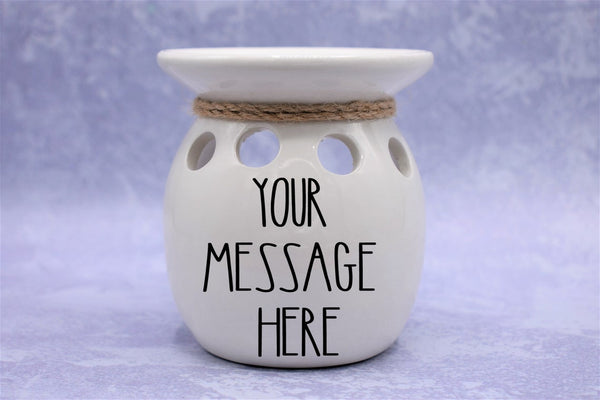 White Ceramic Fragrance Warmer - Nova Moon