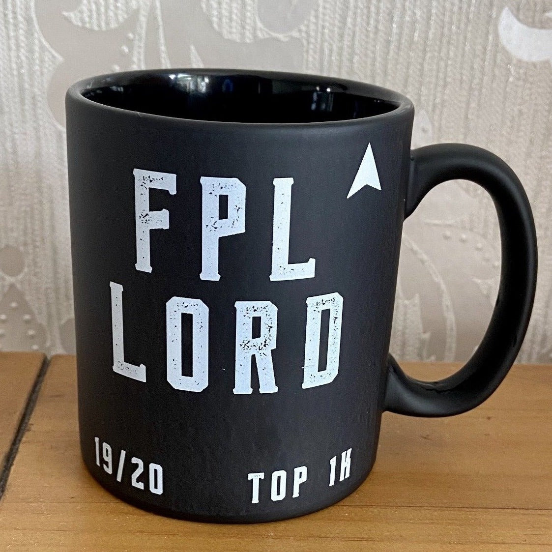 Black 11oz mug custom made for the top 1k in the world in fantasy football