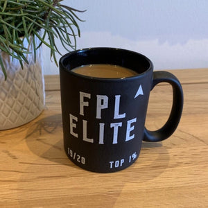 FPL Elite style mug for those who have finished in the top 1%