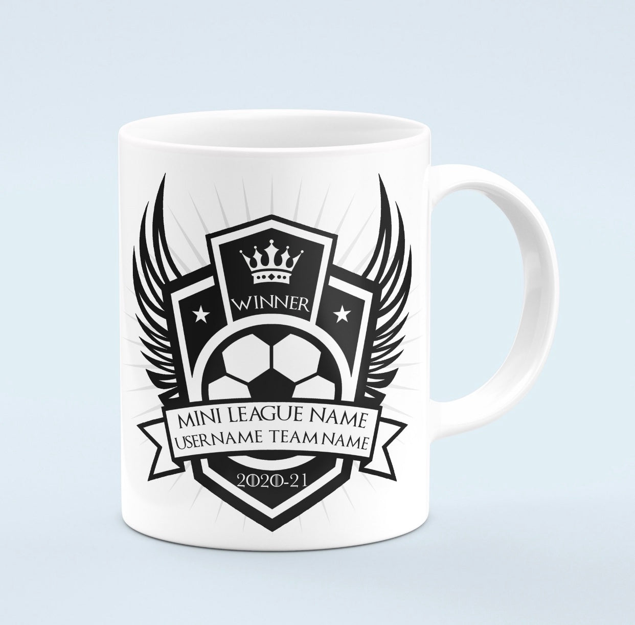 Custom winners mug for FPL mini leagues