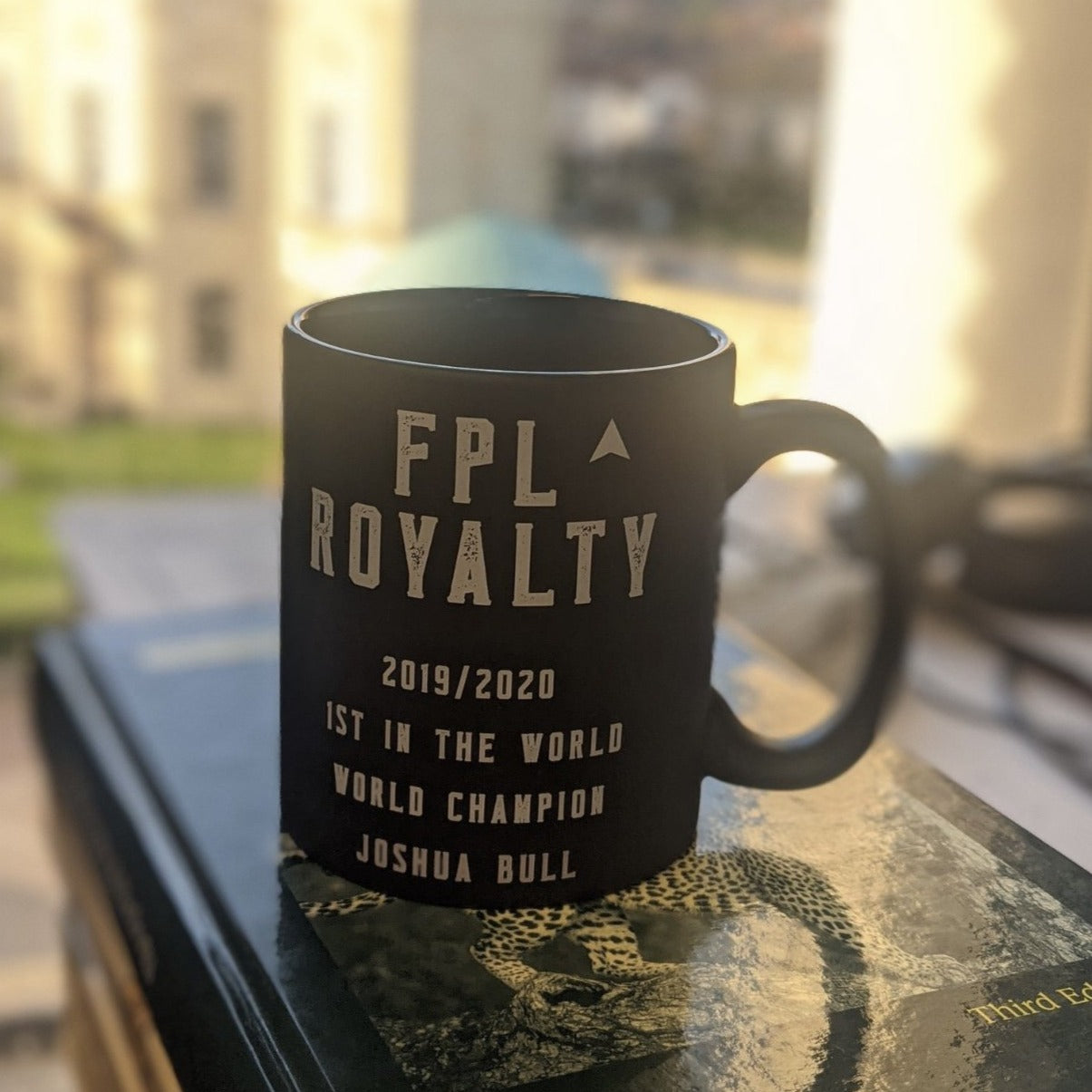 custom designed  mug for the winner of fantasy football