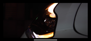 Tesla Model 3 Ludicrous Series White/Amber Plug and Play Headlights (Blacked Out) - TesLux Innovations