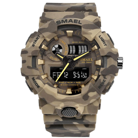 Camouflage Military Dual Display Digital Watch Sports Men Watch