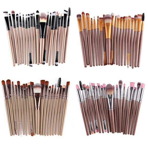 20pcs Professional Synthetic Hair Makeup Brushes Kit