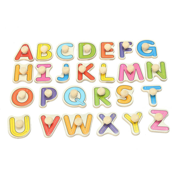 Alphabet Wooden Jigsaw Puzzle Toy Educational Toy Gift