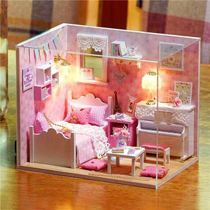 DIY Handcraft Miniature Project Doll House My Little Angels Piano Room