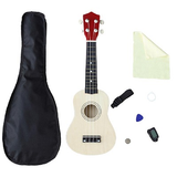 21 inch 4 Strings Ukulele All in one set Wood Hawaii Musical Instrument with Gig Bag Strings Tuner Strap