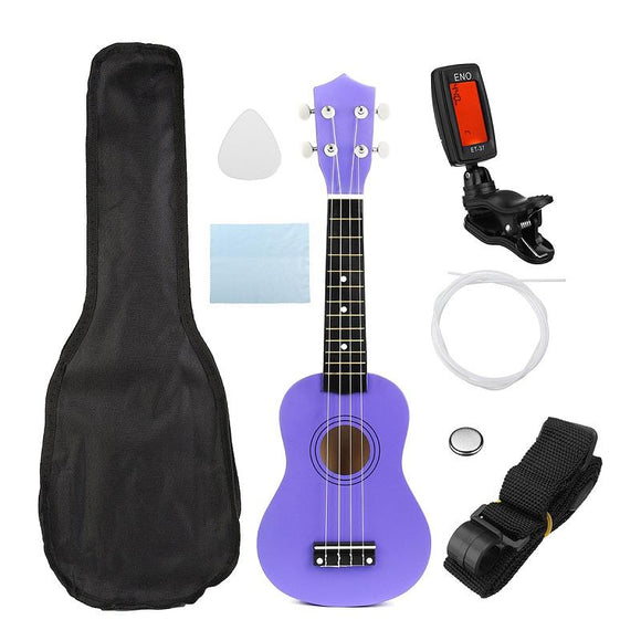 Complete Set Guitar 21 Inch Soprano Ukulele Musical Instrument Purple