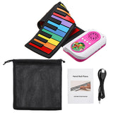 37 Keys 8 Tones Hand Roll Up Portable Piano Beginners Friendly Educational Kids Musical Instrument