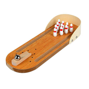 Mini Indoor Wooden Bowling Table Board Games