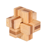 3D Bamboo Interlocking Puzzles Brain Teaser Game Wooden Toys
