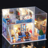 DIY Miniature Dollhouse with Furniture Kit Children Assemble Mini Doll House Model Toys