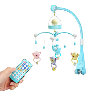 Baby Crib Mobile Musical Bed Bell with Night Light