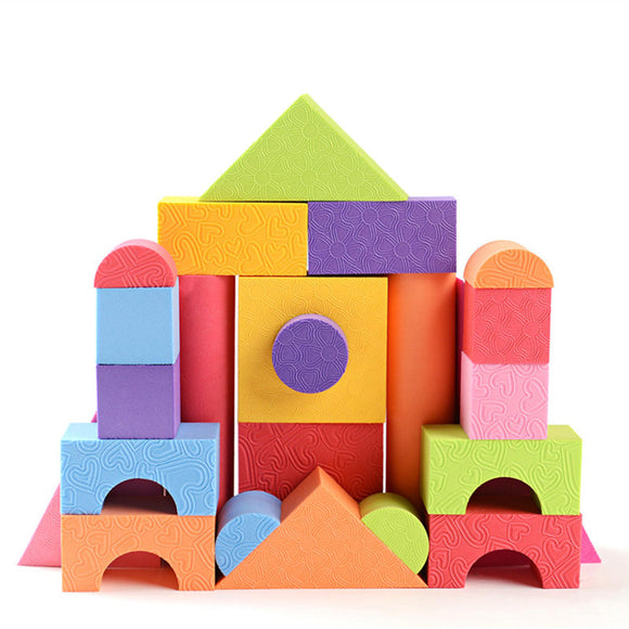 25 pcs Soft Lightweight EVA Foam Building Blocks DIY Model Construction Toy Kids Educational Toys