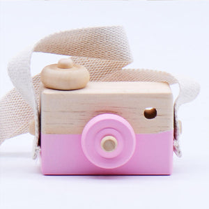 Cute Wearable Children's Mini Wooden Camera Montessori Educational Photography Toys