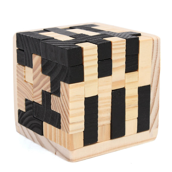 3d cube 54pcs Wooden Magic Intelligence  Brain Teaser Game Wooden Toys