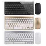 Ultra Thin Wireless Keyboard and Wireless Ultra Thin Mouse Combo Set with USB Receiver For PC Computer
