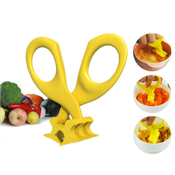 Real Bubee Baby Food Scissors and Crusher