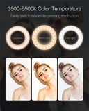 LED Selfie Ring Fill Light Clip-on Beauty Rechargeable Light for Cell Phones Photo Video