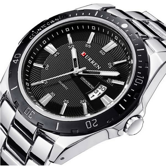 Men's Sports Stainless Steel Strap Wrist Watch