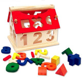Wooden Digital Number House Building Toy Educational Blocks