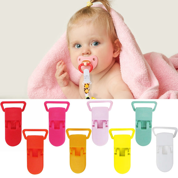 10 pcs Baby Pacifier Holder Safety Drooling Bib Clips