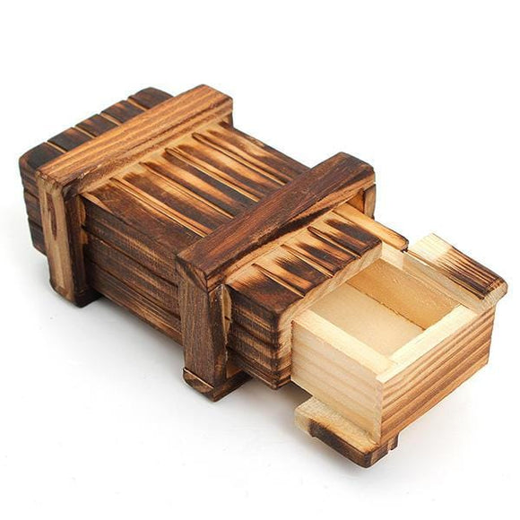 Mini Compartment Wooden Secret Toy Magic Puzzle Box