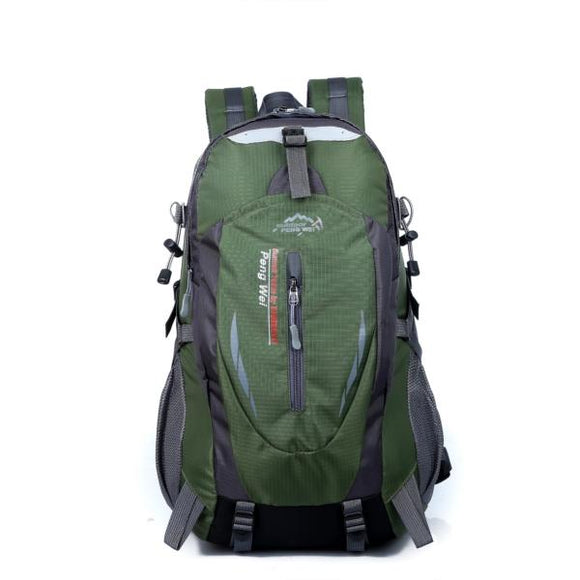 35L Waterproof Nylon Outdoor Hiking Camping and Travel Backpack