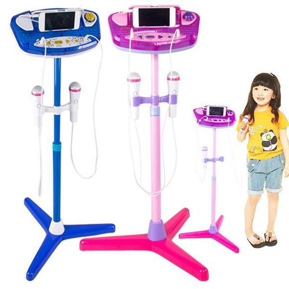 Superstar 2 Microphones With Adjustable Stand Karaoke Music Toys for Kids