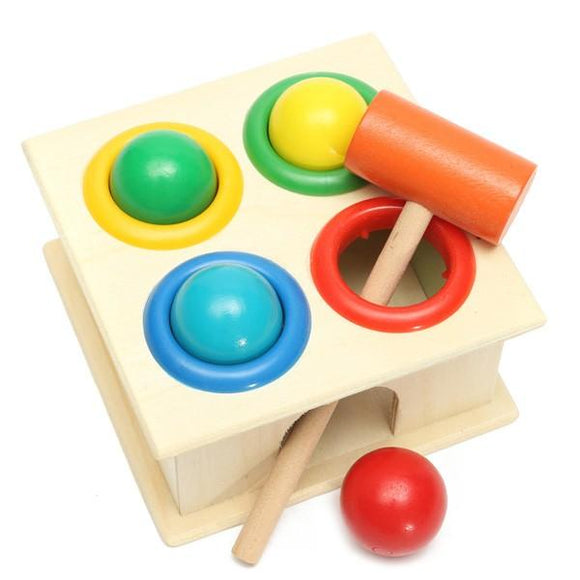 Wooden Knock Hammering Ball Toy Set