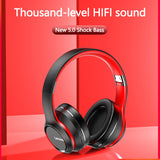 Bluetooth Earphone Over-ear Foldable Computer Wireless Headphones Noise Cancellation HIFI Stereo Gaming