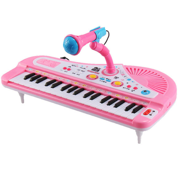 37 Keys Electronic Keyboard Piano with Microphone Educational Kids Musical Instrument