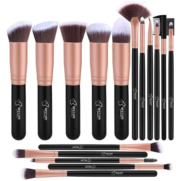 BESTOPE Makeup Brush Set Professional 16-Piece
