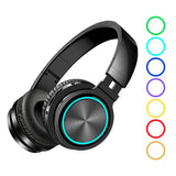 Bluetooth 5.0 Graphene Headphone Foldable RGB Earphones Over Ear Stereo Wireless Headset Built-in Mic