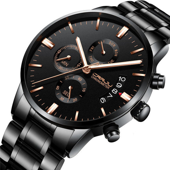 Men's Chronograph Steel Business Style Quartz Watch