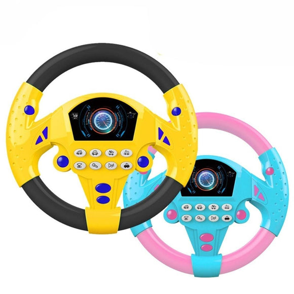 Learn and Play Driver Baby Steering Wheel Toddler Musical Toys with Lights and Sounds
