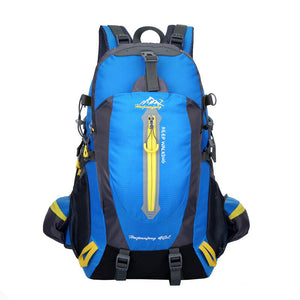 40L Climbing Waterproof Nylon Sports Travel Hiking Backpack with Anti Theft Shockproof Water Resistant