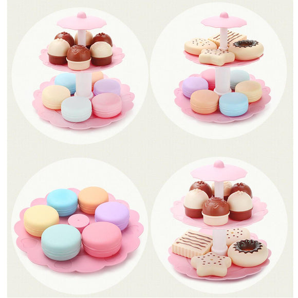 Dessert Tower Children's Simulation Cake Biscuits Donut Set Kids Educational Toys Gift