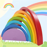 7 Colours Wooden Stacking Rainbow Shape Toy Set