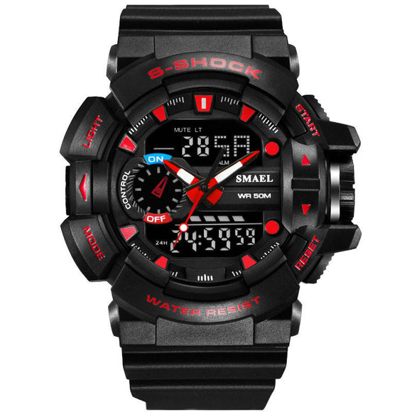 Military Style LED Digital Watch Display Time Date Sport Wristwatch