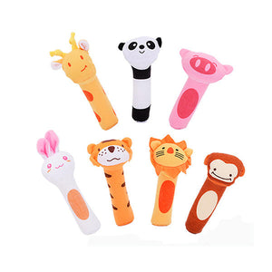 New Baby Animals Beeps Music Soft Plush Toys Holding Rattles
