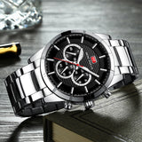 Men's Business Style Stainless Steel Band Quartz Wrist Watch