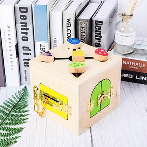 Wooden Little Lock Box  Educational Toy