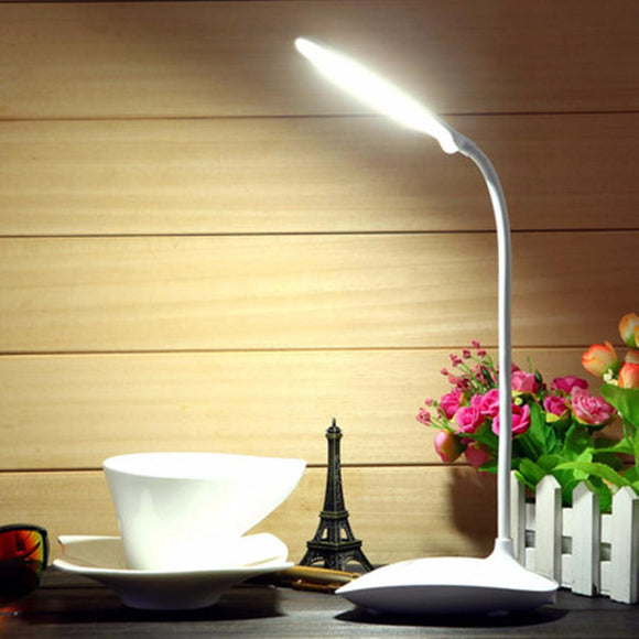 Flexible Rechargeable Dimmable USB LED Night Light Bedside Desktop Reading Table Lamp