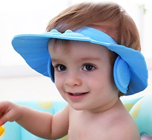 Shampoo Shower Cap Protect Ear Soft Adjustable Rubber Bath Hat