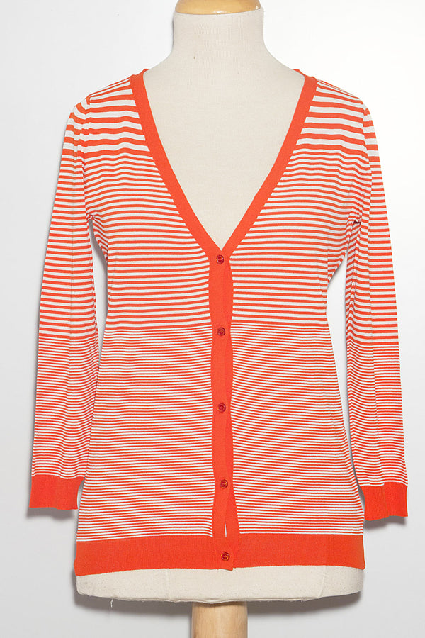 Cardigan in Viscosa a Righe