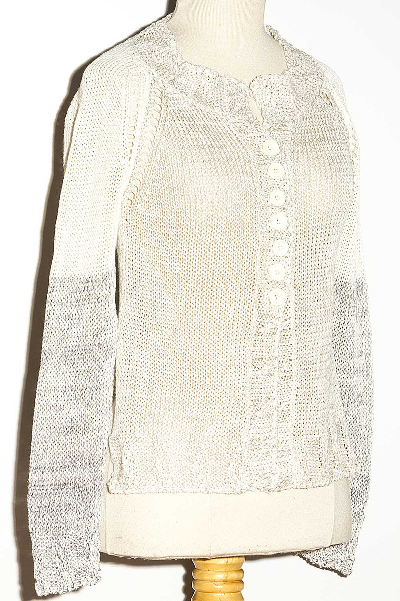 Cardigan in Cotone - Degradé