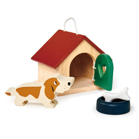 Pet Dog Wooden Toy Set